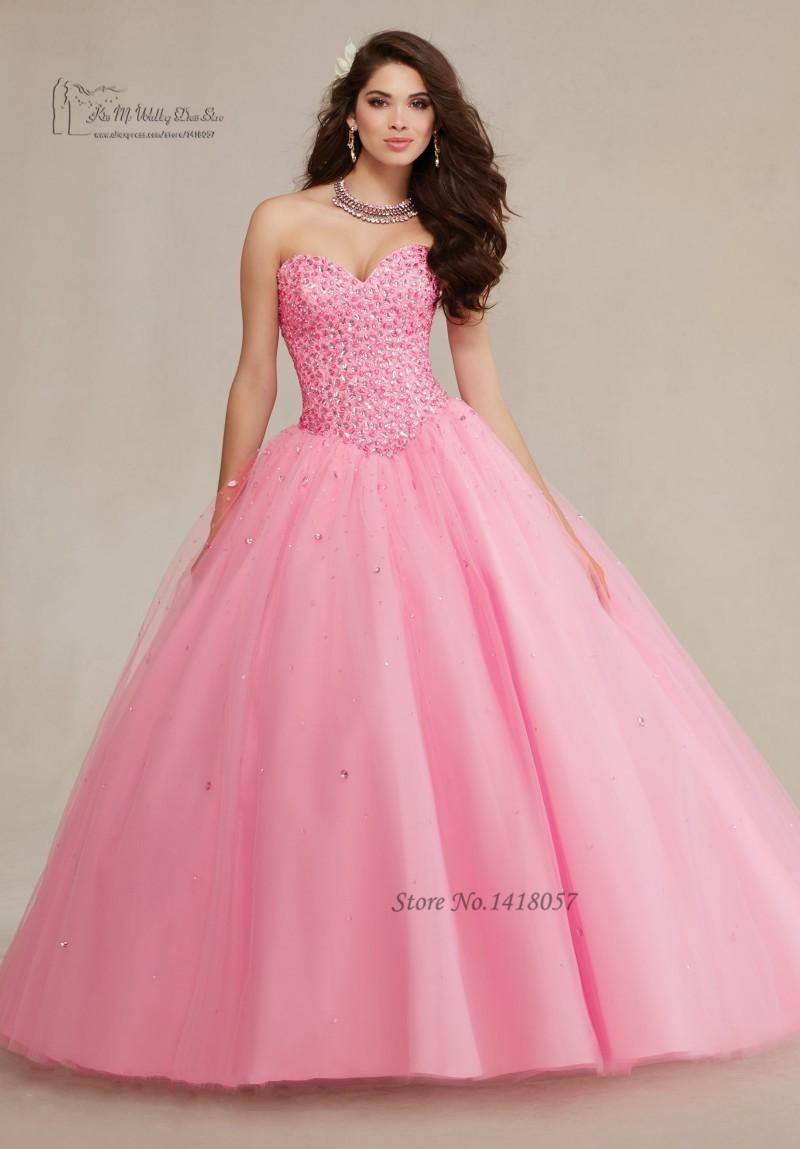 Dulce 16 Vestidos rosa turquesa Vestidos de quinceañera baratos ...