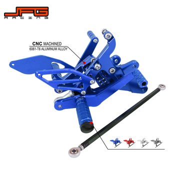 Motorcycle Aluminum CNC Adjustable Footpegs Foot Pegs Pedals Rest Rearset For YAMAHA YZF R6 YZF-R6 2003-2005 2003 2004 2005