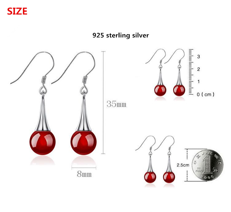 100 925 sterling silver fashion rhinestone ladies drop earrings jewelry cheap gift Anti allergy wholesale price in Drop Earrings from Jewelry Accessories