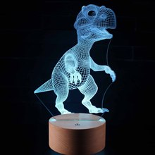new Dinosaur Series 3D Night Light LED Remote Control Colorful Touch Creative Li Needle Bedside Lamp Colorful lights table lamp quadruple 3d dinosaur night lights colorful changing simulation dinosaur lamp halloween funny tricky atmosphere table lamp