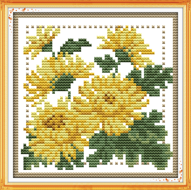 image regarding Needlepoint Patterns Free Printable named US $10.58 Pleasure sunday floral structure 12 weeks flower November style chart free of charge printable cross sch designs for do-it-yourself craft presents-in just Package deal versus