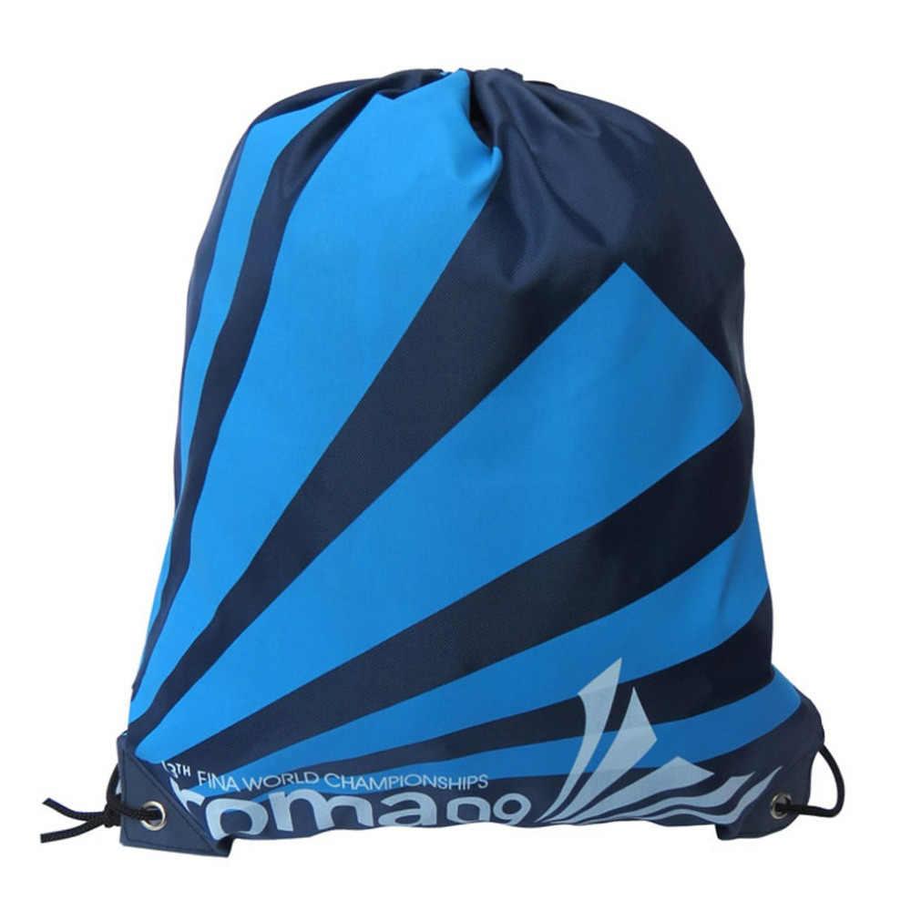 أعلى جودة طبقة مزدوجة الرباط الصالة الرياضية حقائب السباحة الرياضة حقيبة شاطئية السفر المحمولة أضعاف حقائب كتف صغيرة