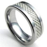 High Polished Pure Silver Color Ring Stainless Steel Ring Tungsten Carbide Men S Fantastic Ring Size