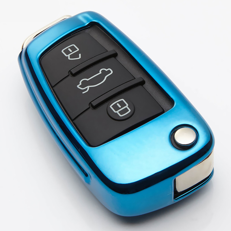 Soft TPU Remote Car Key Case Cover Protection For Audi C6 A7 A8 R8 A1 A3 A4 A5 Q7 A6 C5 Car Key Holder Shell Car Styling in Key Case for Car from Automobiles Motorcycles