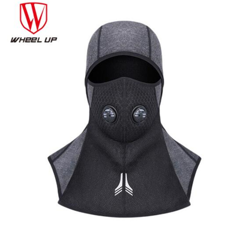 WHEEL UP Winter Cycling Cap Fleece Thermal Keep Warm Windproof Face Mask Bicycle Skiing Hat Cold Headwear Bike Face Mask Scarf in Cycling Face Mask from Sports Entertainment