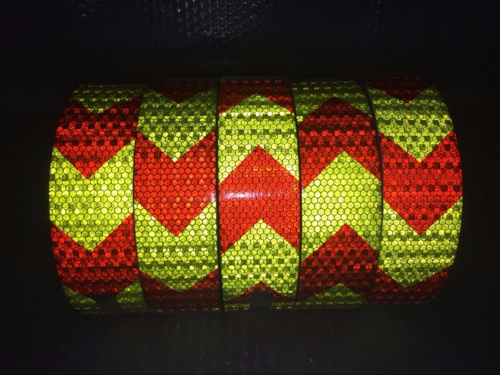 10 Roll Wholesale Arrow Safety Warning Tape Caution Tape Reflective Safety Warning Conspicuity Tape