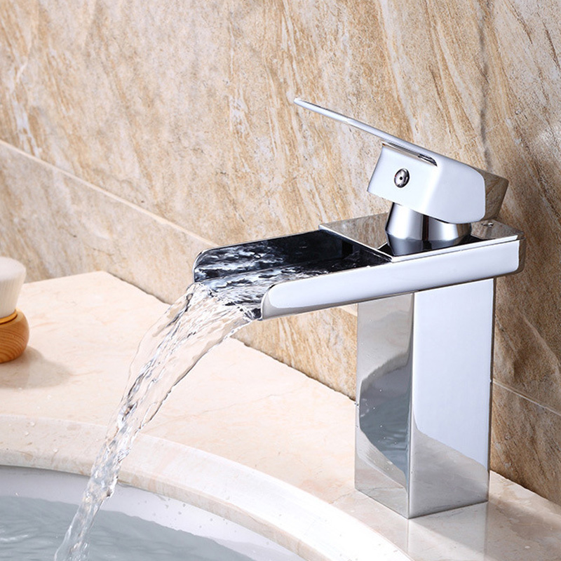 New Arrival Deck Mount Waterfall Bathroom Faucet Vanity Vessel Sinks Mixer Tap Cold And Hot Water Tap kemaidi good quality deck mount vanity vessel sinks mixer tap cold and hot water faucet waterfall bathroom faucets