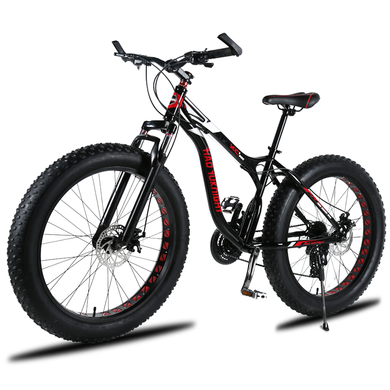 Running Leopard  Bicycle Mountain Bike 26-inc Snowmobile Super Wide Tire Mountain Biking Bicycle Beach Adult Mountain Bike