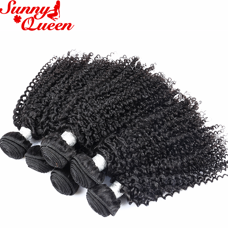 Brazilian Human Hair Weave Bundles Kinky Curly 100% Human Hair Extensions 3pcs Human Hair Bundles Sunny Queen Hair Products