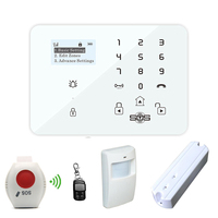 GSM Alarm Systems Security Home Elderly Care Alarm Panel Wireless 433MHz with Remote Control SOS Panic Button Motion Sensor K9Y