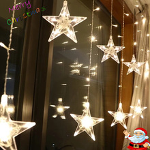 Led Christmas String Fairy lights Outdoor AC220V EU Plug Gar