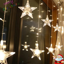 Led Christmas String Fairy lights Outdoor AC220V EU Plug Garland Lamp Decorations for Home Party Garden Wedding Holiday lighting(China)