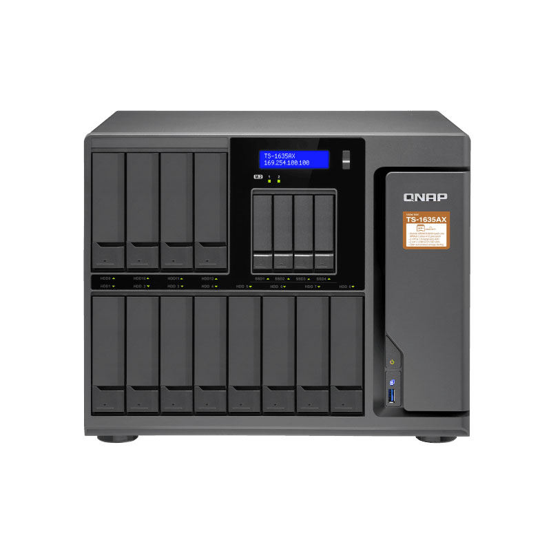 Qnap TS-1635AX  4G Memory 16-bay Diskless Nas, Nas Server Nfs Network Storage Cloud Storage, 2 Years Warranty