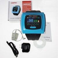 Wrist Wearable 24h Record Study Digital Pulse Oximeter CONTEC CMS50F USB Oximeter Saturometro/saturometre Sleep Monitoring SpO2