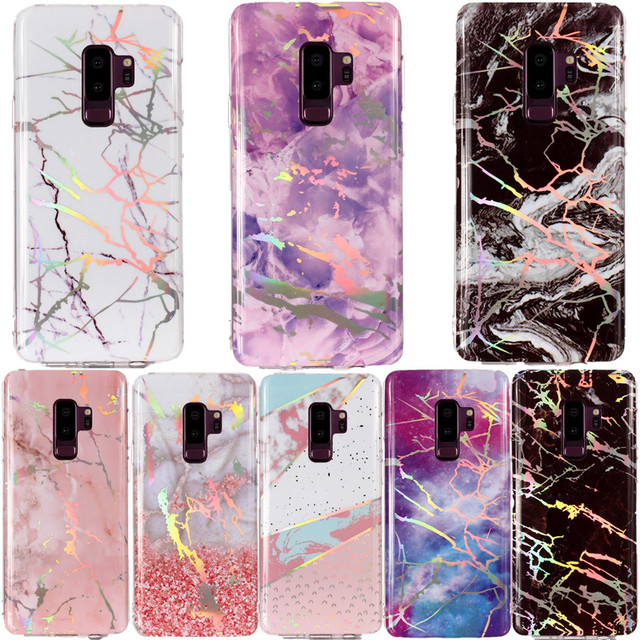 outlet store 1c860 35e72 US $3.21 5% OFF|Colorful Marble Phone Case For Samsung galaxy S9 S8 plus S7  S6 edge S5 S4 S3 A J series Silicon Soft TPU Stone Image Back Cover-in ...
