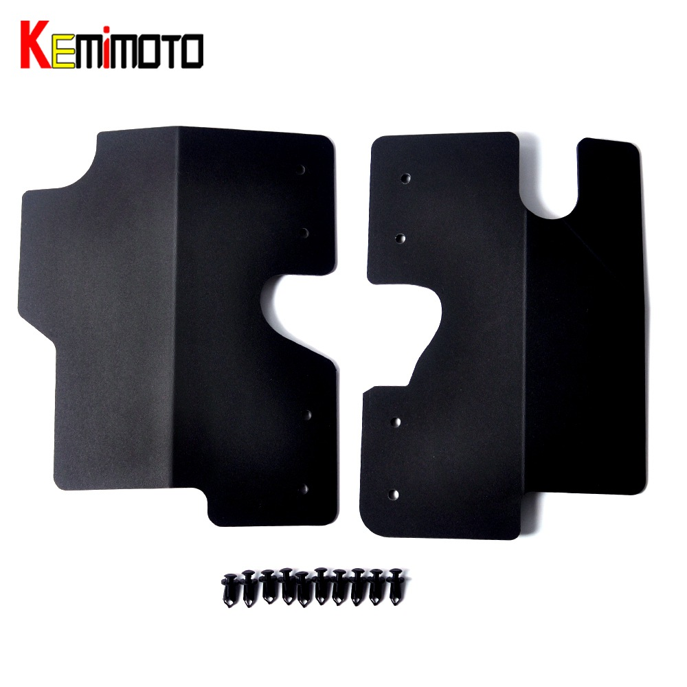 KEMiMOTO for Polaris RZR XP-1000 RZR 900 1000 S For UTV Trail Side Radiator Protection Panels Guards Driver & Passenger