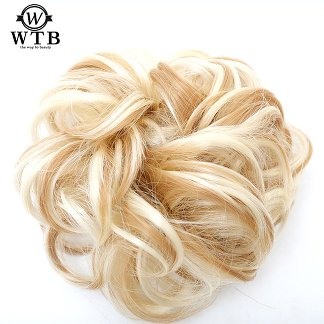 Wtb Women Chignon With Rubber Band Hair Extension Updo Donut