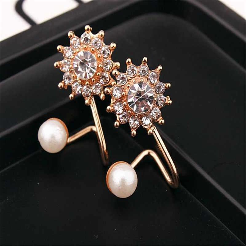 Gioelleria raffinata e alla moda Semplice di Ciliegio Fiore di perle Orecchini con perno gioielli di lusso Margherita 925 delle donne Del Nastro orecchini