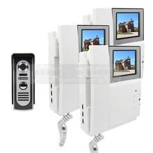 DIYSECUR 800×480 Video de La Puerta Teléfono Video Intercom Timbre 4.3 pulgadas de Monitor de Interior + 600 420tvline IR Visión Nocturna Al Aire Libre cámara