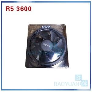 Image 5 - معالج لوحدة المعالجة المركزية AMD Ryzen 5 3600 R5 3600 3.6 GHz ستة النواة اثني عشر خيط 7NM 65W L3 = 32M 100 000000031 مقبس AM4 مع مروحة تبريد