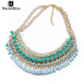 VALEN BELA 4 Color Tassel Big Necklace Vintage Women Statement Chunky Choker Necklace Chain Necklace Indian Jewelry XL1515