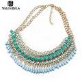 Valen bela 4 cores borla grande colar das mulheres do vintage colar de corrente colar declaração chunky choker jóia indiana xl1515