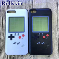 Konsola Do Gier Pokrywy Skrzynka 4sfor iPhone 6 6 s plus 7 8 8 Plus wielu Przypadku Telefonu Może Grać Tetris Gry TPU Back Cover Prezent Dla Dziecka Kid