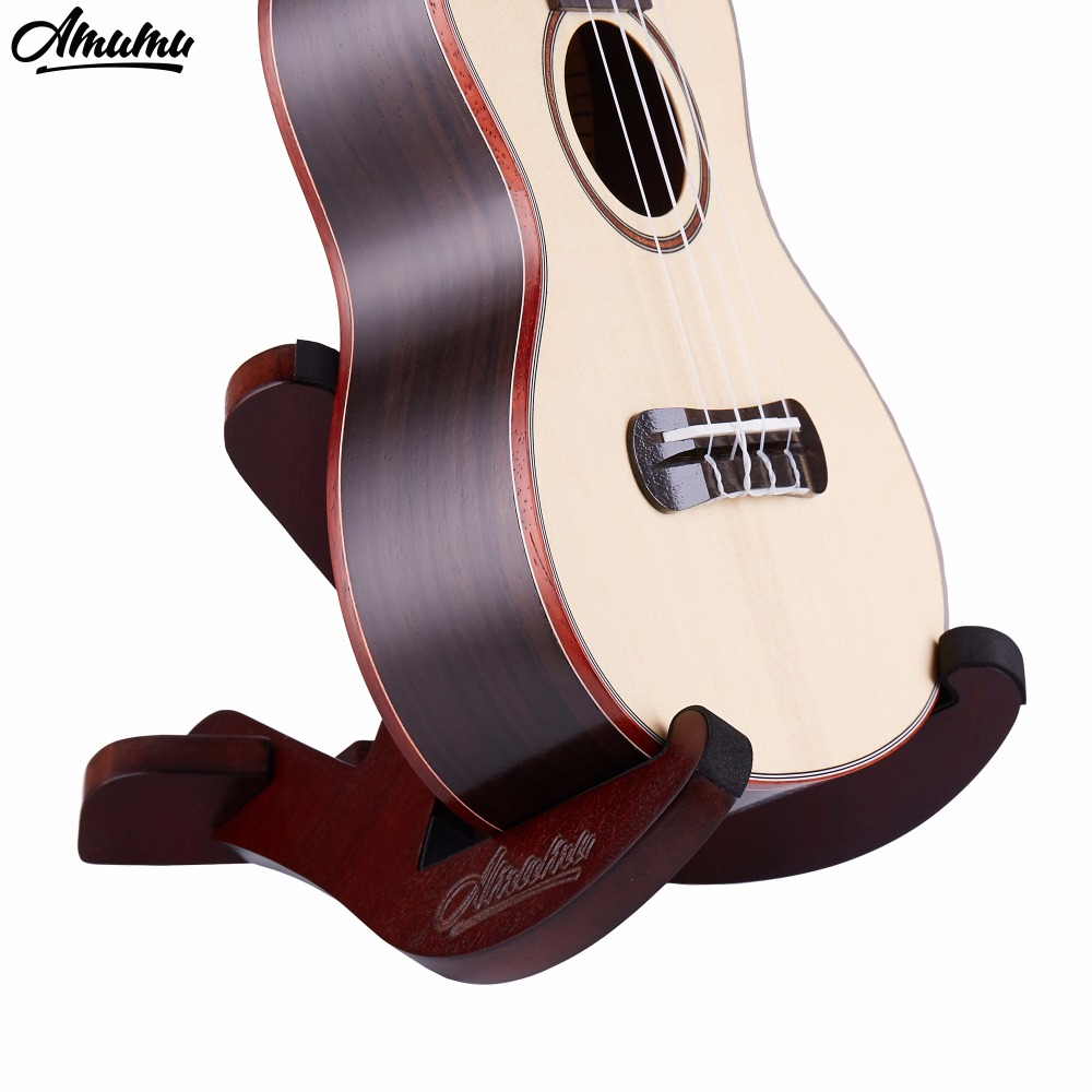 Wood Ukulele Stand with Two Y Shaped Pieces Flat Pack Holder Rack Mount AM-UWS10 wood stand holder