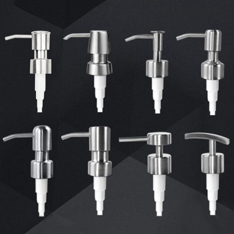 1x Bathroom Stainless Steel Liquid Lotion Dispenser Head Replacement Soap Shampoo Shower Gel Pump Jar Tube Bathroom Hardware