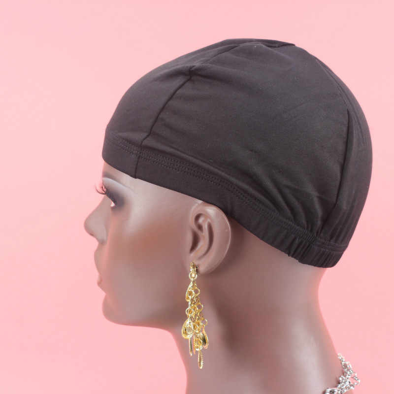 Dome cap 5 PCS/Lot black color Wig Making Cap Top Stretch Weaving Cap Back adjustable Strap for making wigs