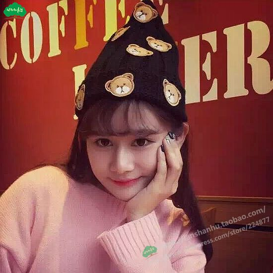 winter wool knitted hat ladies rabbit bear beanies skullies fashion cartoon toy bonnet hat outdoor thicken warm gorros for women princess hat skullies new winter warm hat wool leather hat rabbit hair hat fashion cap fpc018