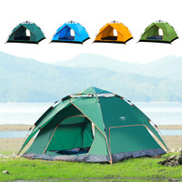 Kids Outdoor Tents Professional 3 4 Person Tent Hydraulic Automatic Windproof Waterproof Double Layer Fast Open Hiking Camping