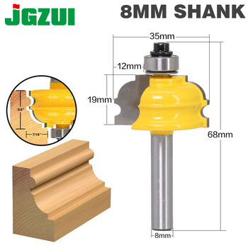 1PC architektoniczny frez do formowania-8 #8222 Shank Line nóż frez do drewna czop frez do obróbki drewna narzędzia tanie i dobre opinie JGZUI End mill Wolframu stopu kobaltu