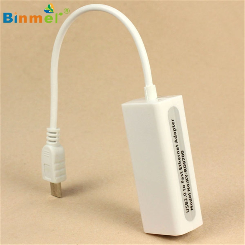 Binmer Micro 5pin USB To RJ45 10/100M Ethernet Lan Card For SamsungTable PC Mar13 MotherLander