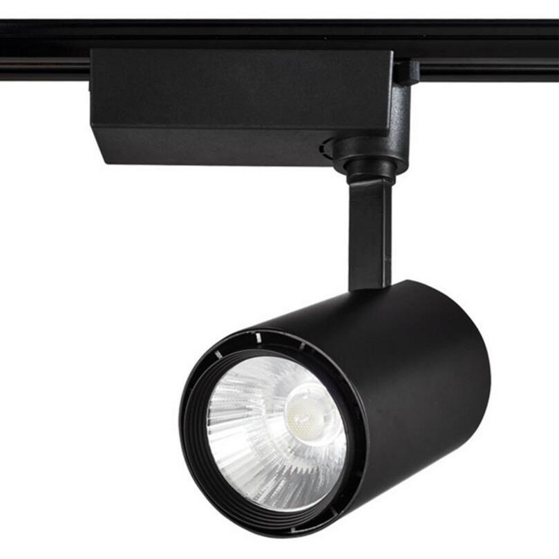 Led Track Lighting China: Free Shipping LED Track Light 30W COB Rail Lamp LED