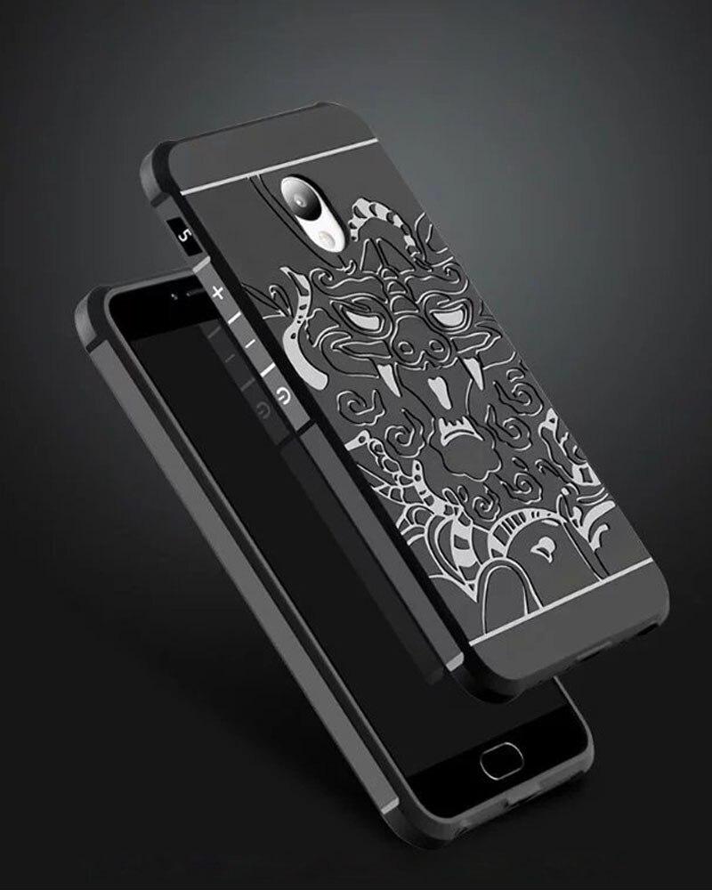 Para M5 Meizu Nota Funda de Silicona Note5 3D Alivio Dragón Antichoque Híbrido C