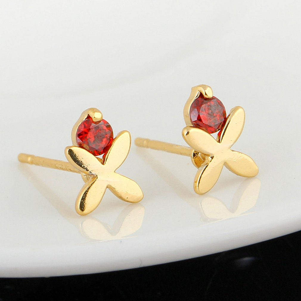 2018 Exquisite Romantic Jewelry Stud Earrings For Wedding Elegant Zirconia Stone Earring Fashion Earrings For Ladies Gifts
