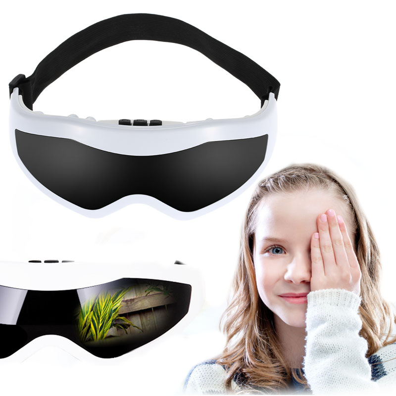 Electric Eye Massager glasses eye mask USB Vibration Alleviate Fatigue Stress Relief Relax Forehead massage Eye vision Care abs electric eye care massager magnetic therapy vibration alleviate fatigue dark circles alleviate massage healthy care