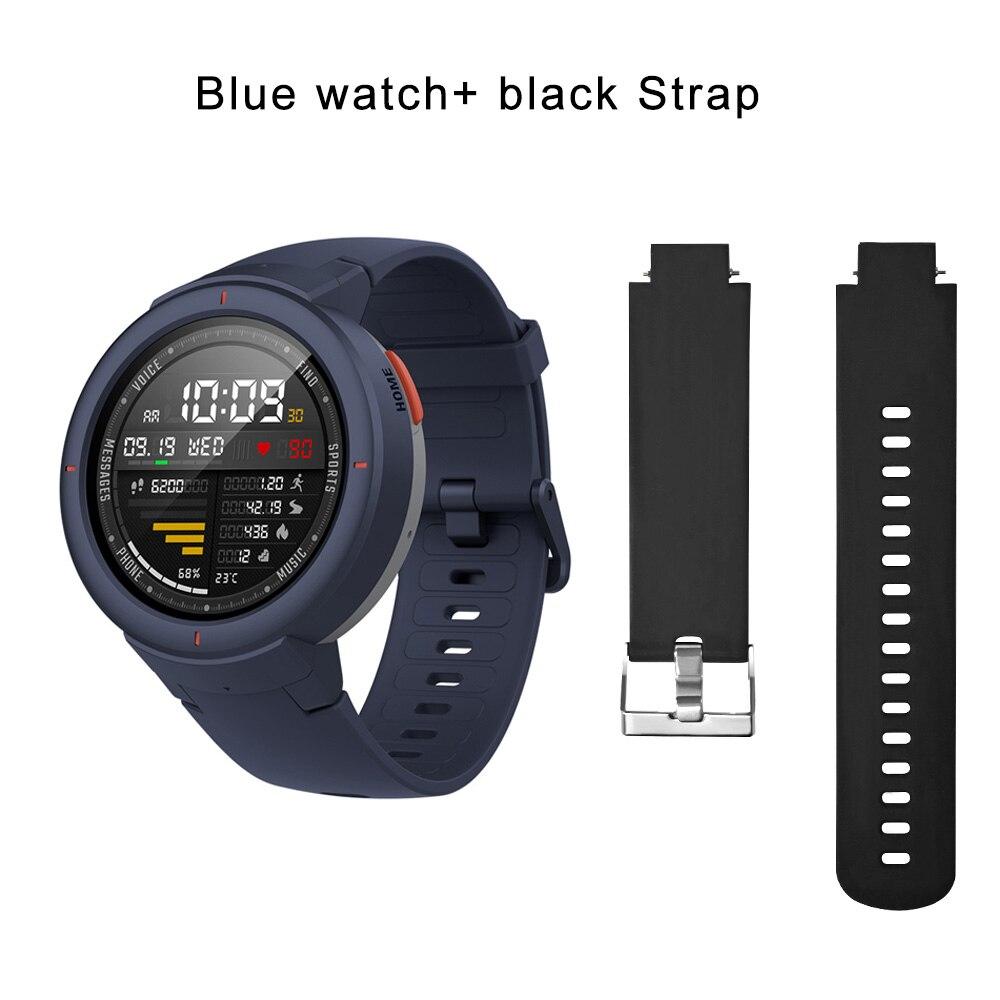 blue N black strap