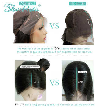 13*6 Deep Part 130% Density Lace Front Human Hair Wigs For Black Women Brazilian Remy Hair Bleached Knots Baby Hair Slove Rosa
