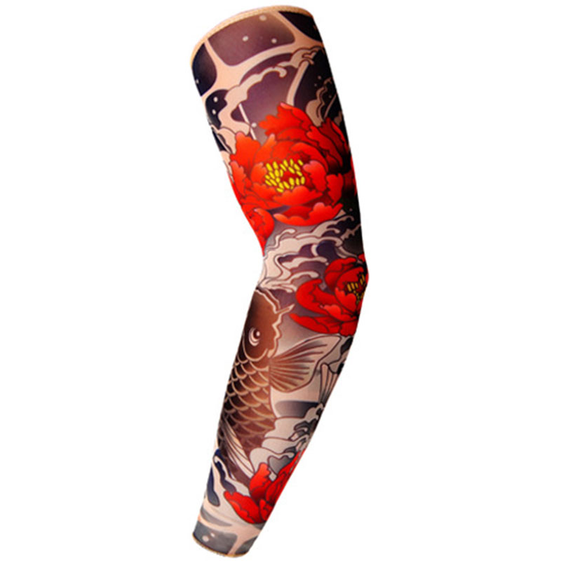 Fioday New Temporary Fake Tattoo Sleeve Unisex Arm Warmer Designs Elastic Summer Arm Sleeves Cover Tattoos Sun UV Protection