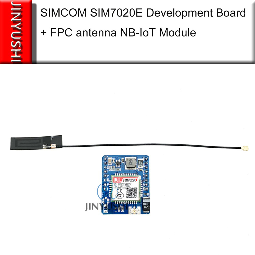 JINYUSHI New Arrival! SIM7020 SIM7020E Development Board +FPC Antenna B1/B3/B5/B8/B20/B28 LTE NB-IoT M2M Module Instead SIM800C
