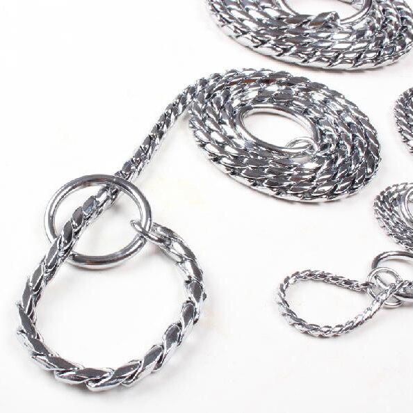 Nuevos Collares de Perro de Formación P Choke Collar de Serpiente Cadena de Metal Para Perros