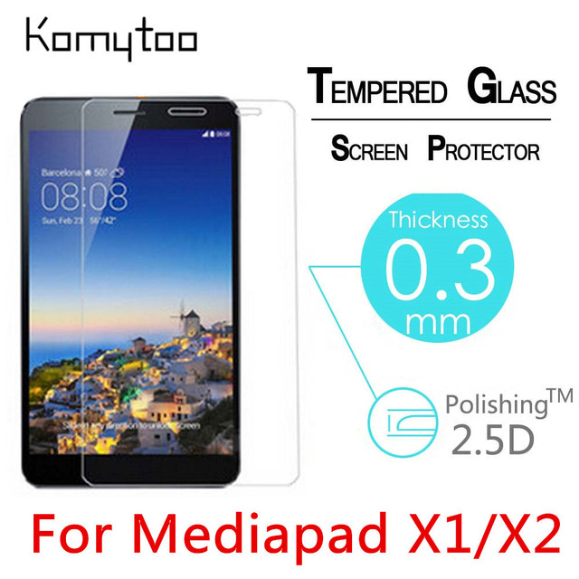 "9H 2.5D 0.3mm Explosion-Proof Toughened Tempered Glass For HuaWei Honor Mediapad X1/X2 7"" Film Clear Screen Protect Cover Guard"
