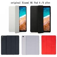 Original for Xiaomi Mi Pad 4 /4 Puls Smart Case Tablet Pc Matte Leather Flip Cover Protective Film Protective Case LTE 32/64GB