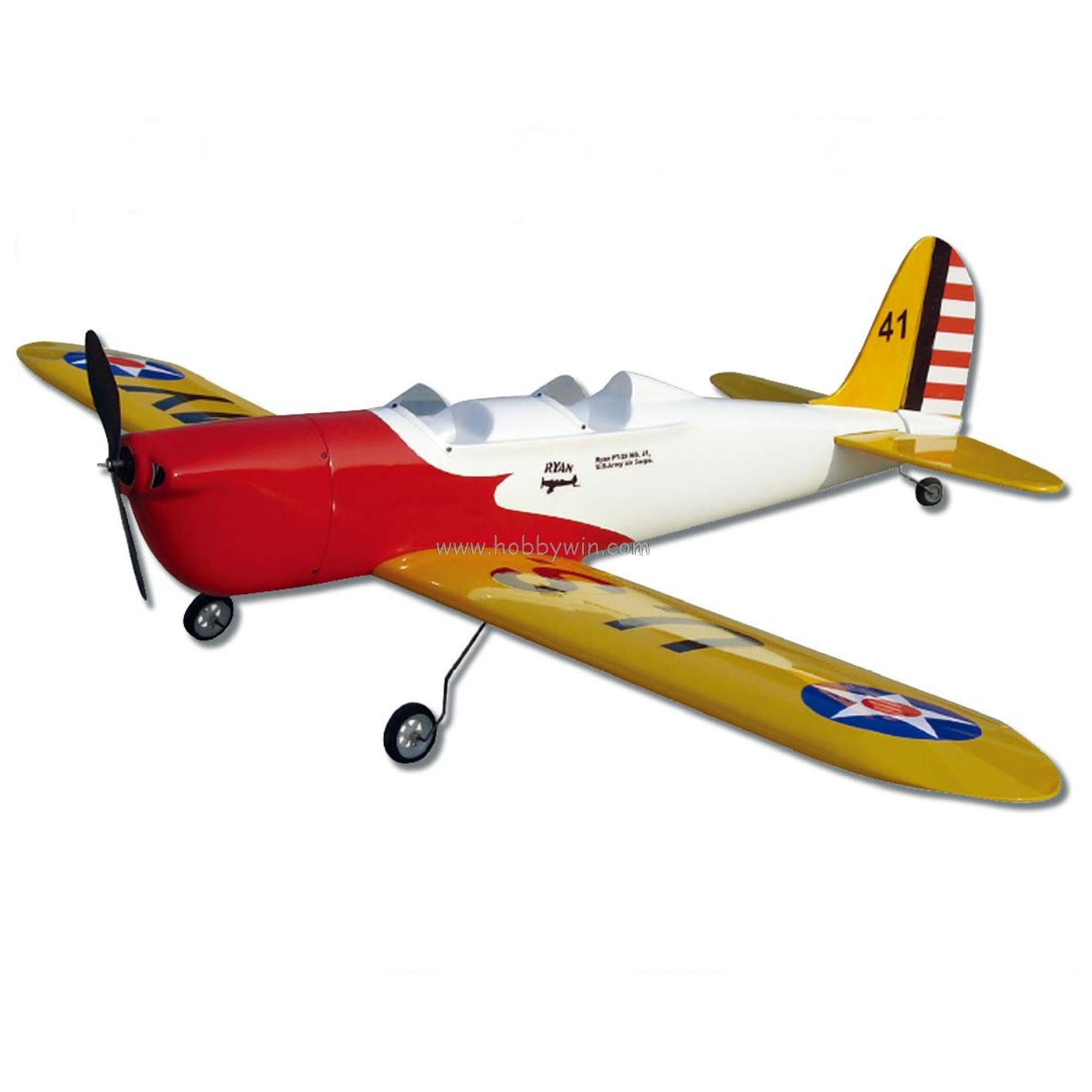 PT-20 Ryan 1100mm KIT without electric part Fiberglass & Wood RC model airplane image