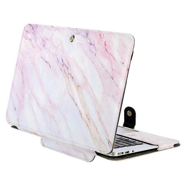 d99b1f36fd MOSISO pour Apple MacBook Pro 12 13 15 Touch Bar livre Folio protéger la  couverture de la manche en cuir PU sac étui pour nouveau Pro 13 15 2017 2018