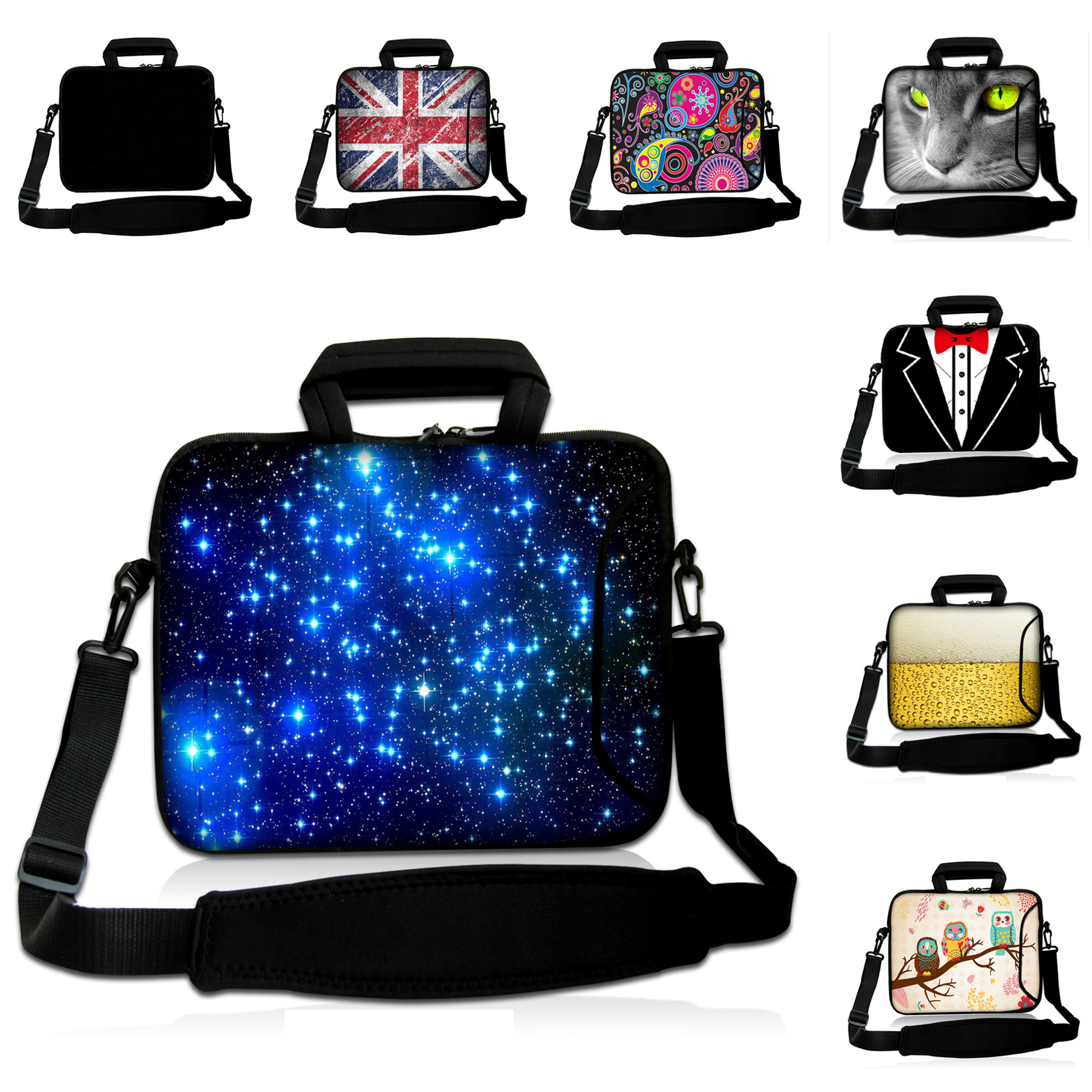 f2c5c6a60712 14 12 13 10 17 15 9.7 10.1 15.6 Inch Laptop Sleeve Cases New Messenger  Notebook