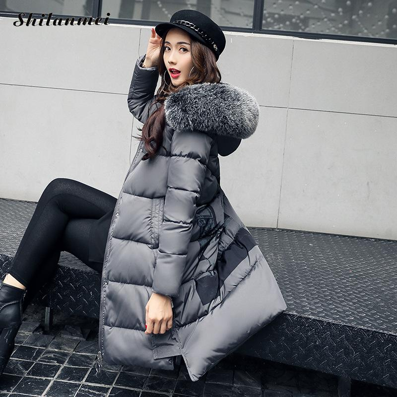 купить Womens Winter Down Jackets Coats Wmen High Quality Warm Female Thickening Warm Parka Hood Long Sleeve Over Coat Solid Color по цене 2630.99 рублей
