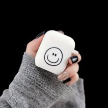 For AirPods Case Cute Cartoon Emoticon Pattern Soft Silicone Earphone Cases Apple Airpods 2 ins Style Smile Protect Cover